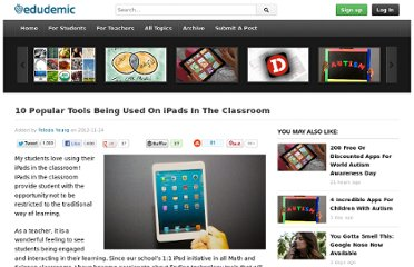 http://edudemic.com/2012/11/ipads-in-the-classroom-tools/