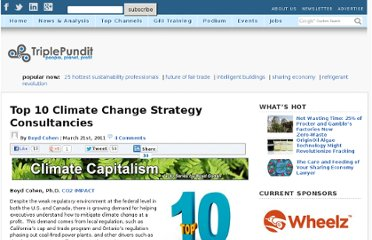 http://www.triplepundit.com/2011/03/top-10-climate-change-strategy-consultancies/
