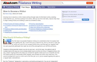 http://freelancewrite.about.com/od/breakingintofreelancing/u/How-To-Become-A-Writer.htm