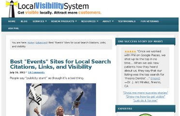http://www.localvisibilitysystem.com/2012/07/16/best-events-sites-for-local-search-citations-links-and-visibility/