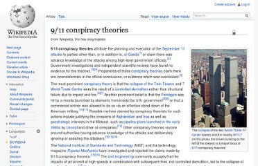 http://en.wikipedia.org/wiki/9/11_conspiracy_theories