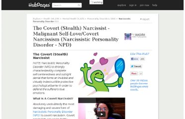 http://sparkster.hubpages.com/hub/The-Covert-Narcissist