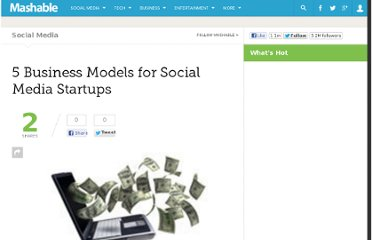 http://mashable.com/2009/07/14/social-media-business-models/