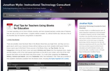 http://jonathanwylie.com/2012/11/17/an-ibooks-tip-bonanza-for-ipad-teachers/