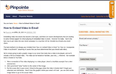 http://www.pinpointe.com/blog/how-to-embed-video-in-email