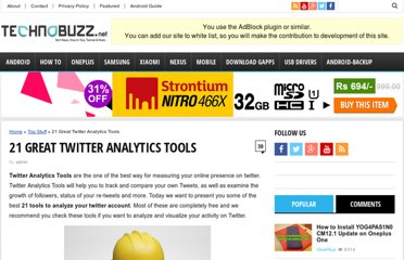 http://www.technobuzz.net/21-great-twitter-analytics-tools/