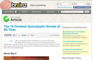 http://brainz.org/10-greatest-apocalyptic-novels-all-time/