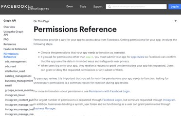 http://developers.facebook.com/docs/reference/login/#permissions