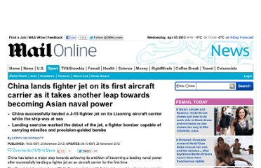 http://www.dailymail.co.uk/news/article-2238222/China-lands-fighter-jet-aircraft-carrier-takes-leap-Asian-naval-power.html