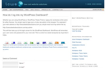 http://lowcostwebsitesolutions.com/how-do-i-log-into-my-wordpress-dashboard/