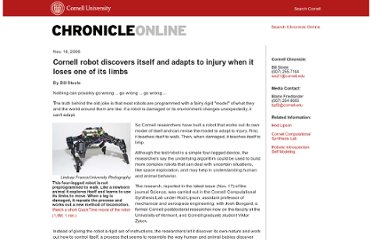 http://www.news.cornell.edu/stories/nov06/ResilientRobot.ws.html