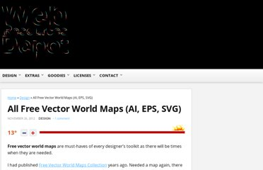 http://www.webresourcesdepot.com/all-free-vector-world-maps-ai-eps-svg/