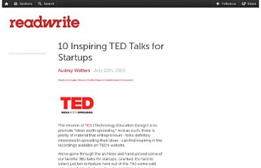 http://readwrite.com/2010/07/13/ten-inspiring-ted-talks-for-st