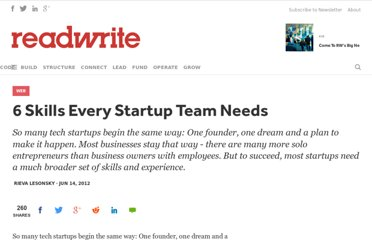 http://readwrite.com/2012/06/14/6-skills-every-startup-team-needs