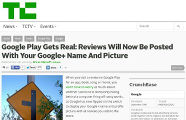 http://techcrunch.com/2012/11/26/google-play-gets-real-reviews-will-now-be-posted-with-your-google-name-and-picture/
