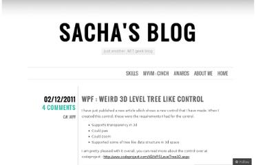 http://sachabarbs.wordpress.com/2011/02/12/wpf-weird-3d-level-tree-like-control/