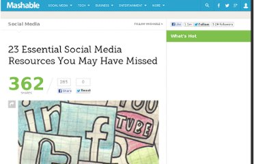http://mashable.com/2010/07/18/essential-social-media-resources-12/