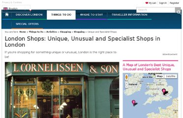 http://www.visitlondon.com/things-to-do/activities/shopping/specialist-shop/specialist-and-unique-shops