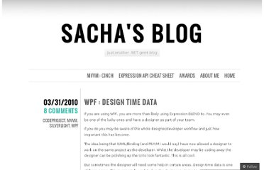 http://sachabarbs.wordpress.com/2010/03/31/wpf-design-time-data/
