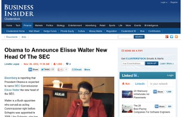 http://www.businessinsider.com/obama-to-announce-walter-new-sec-head-2012-11