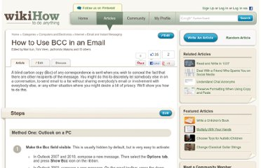 http://www.wikihow.com/Use-BCC-in-an-Email
