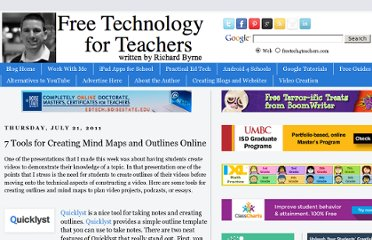 http://www.freetech4teachers.com/2011/07/seven-tools-for-creating-mind-maps-and.html#.ULUwqIdvDnh