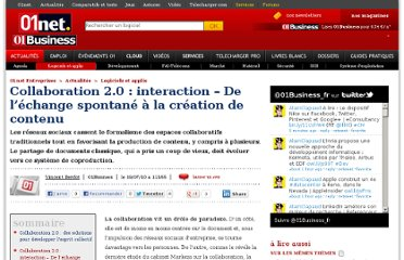 http://pro.01net.com/editorial/519121/collaboration-2-0-interaction-de-l-echange-spontane-a-la-creation-de-contenu/