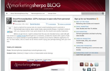 http://sherpablog.marketingsherpa.com/email-marketing/email-personalization/