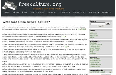 http://wiki.freeculture.org/What_does_a_free_culture_look_like%3F