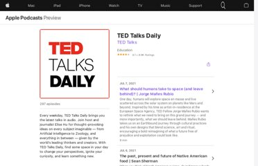 https://itunes.apple.com/us/podcast/tedtalks-audio/id160904630