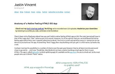 http://justinvincent.com/page/2043/anatomy-of-a-native-feeling-html5-ios-app
