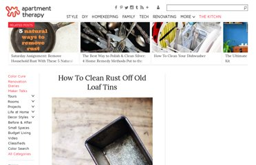 http://www.apartmenttherapy.com/how-to-clean-rust-off-old-loaf-141206