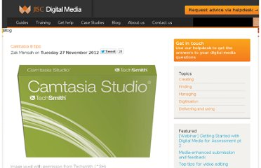 http://www.jiscdigitalmedia.ac.uk/blog/entry/camtasia-8-tips