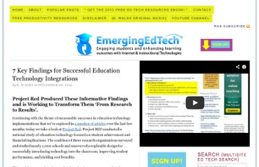 http://www.emergingedtech.com/2012/11/7-key-findings-for-successful-education-technology-integrations/