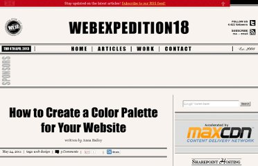 http://webexpedition18.com/articles/how-to-create-a-color-palette-for-your-website/