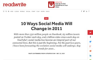 http://readwrite.com/2010/12/15/10_ways_social_media_will_change_in_2011
