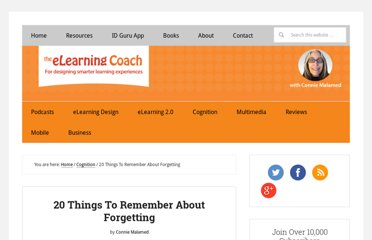 http://theelearningcoach.com/learning/science-of-forgetting/