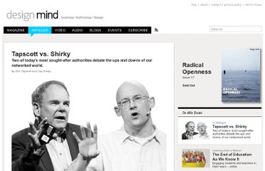 http://designmind.frogdesign.com/articles/radical-openness/tapscott-vs-shirky.html