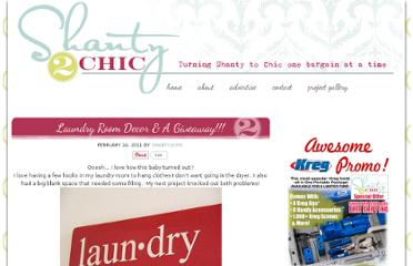 http://www.shanty-2-chic.com/2011/02/laundry-room-decor-giveaway.html