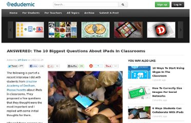 http://edudemic.com/2012/11/ipads-in-classrooms/