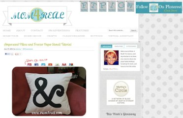 http://www.mom4real.com/2012/07/ampersand-pillow-and-freezer-paper.html