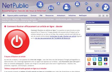 http://www.netpublic.fr/2012/11/comment-illustrer-efficacement-article/