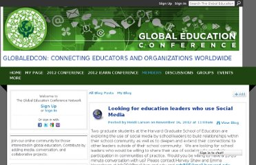 http://www.globaleducationconference.com/profiles/blogs/looking-for-eduation-leaders-who-use-social-media