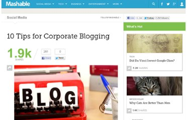 http://mashable.com/2010/07/20/corporate-blogging-tips/