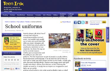 School uniforms | Teen Opinion Essay