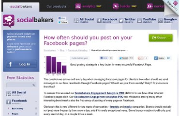 http://www.socialbakers.com/blog/147-how-often-should-you-post-on-your-facebook-pages