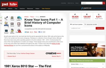 http://psd.tutsplus.com/articles/theory/know-your-icons-part-1-a-brief-history-of-computer-icons/