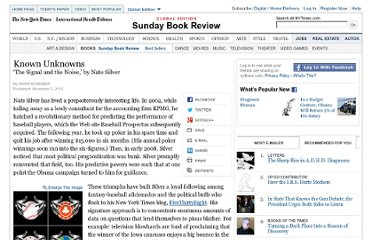 http://www.nytimes.com/2012/11/04/books/review/the-signal-and-the-noise-by-nate-silver.html?pagewanted=all&_r=0