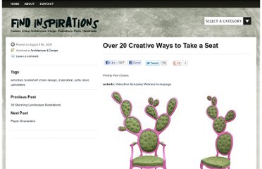 http://findinspirations.com/2009/08/over-20-creative-ways-to-take-a-seat/
