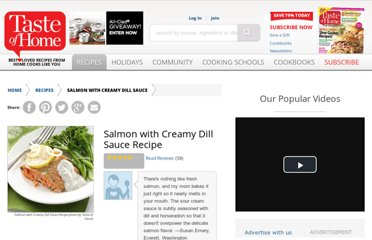 http://www.tasteofhome.com/recipes/Salmon-with-Creamy-Dill-Sauce